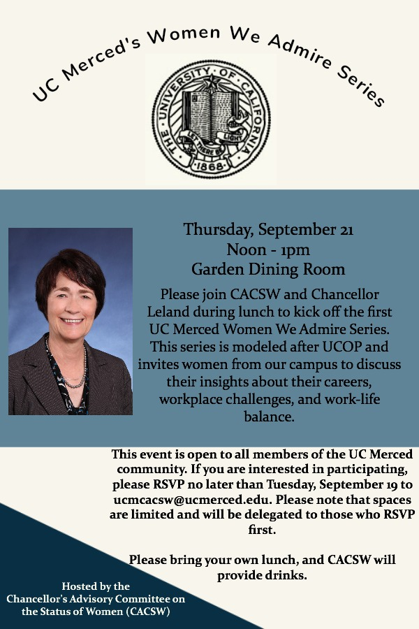 flyer for event with Chancellor Leland