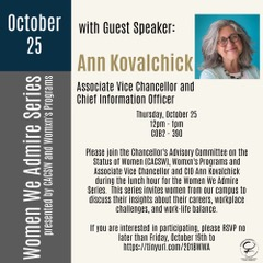 flyer from event with Ann Kovalchick
